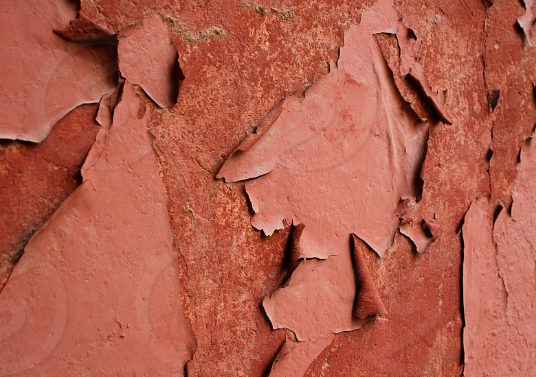 red peeled wall paint photo