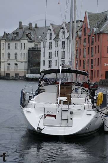 Sailing boat in Aalesund photo