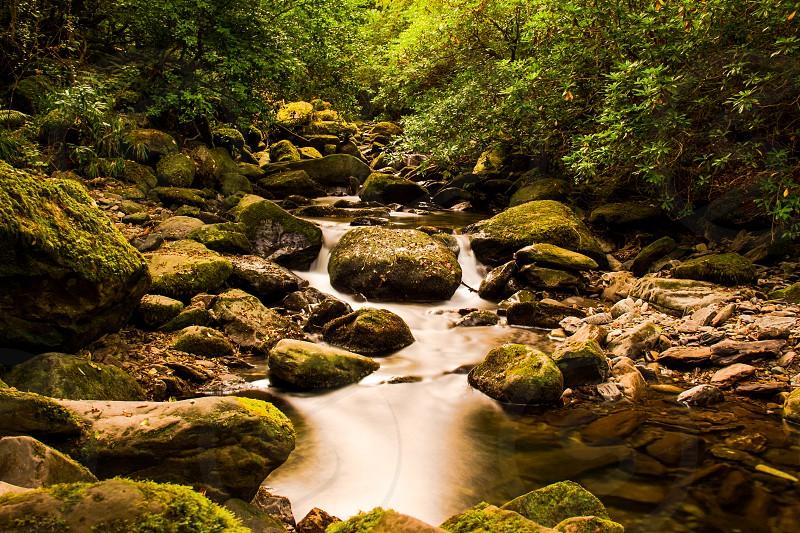 stream rocks landscape long exposure Ring of Kerry Ireland photo