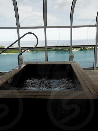 Hot tub on a cruise ship deck photo