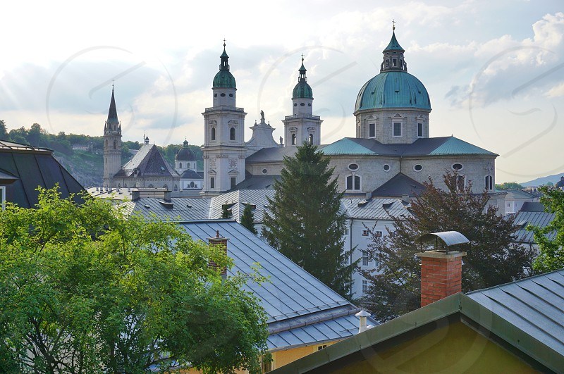 Petersfriedhof in Salzburg Austria photo