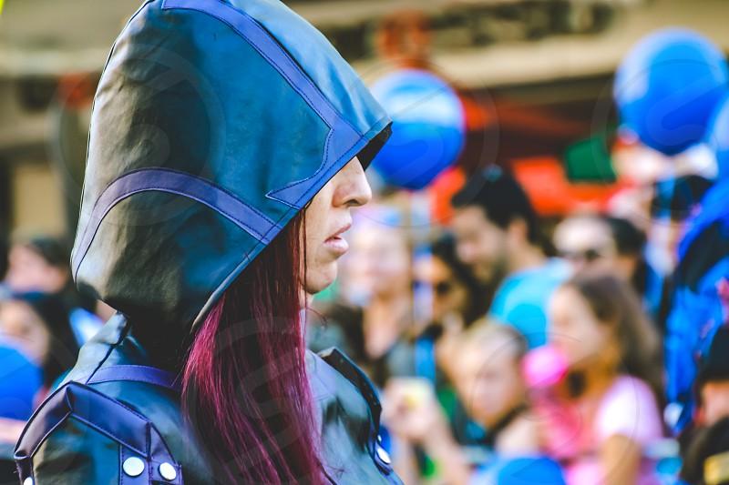 Ninja Warrior- woman in costume fictional character street parade  photo