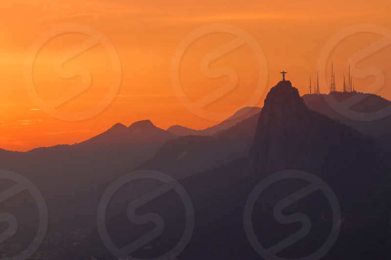 sunset in rio de Janeiro photo