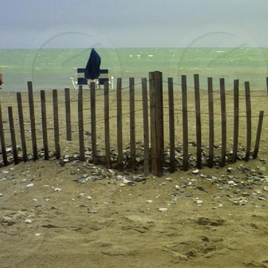 Beach fence  photo