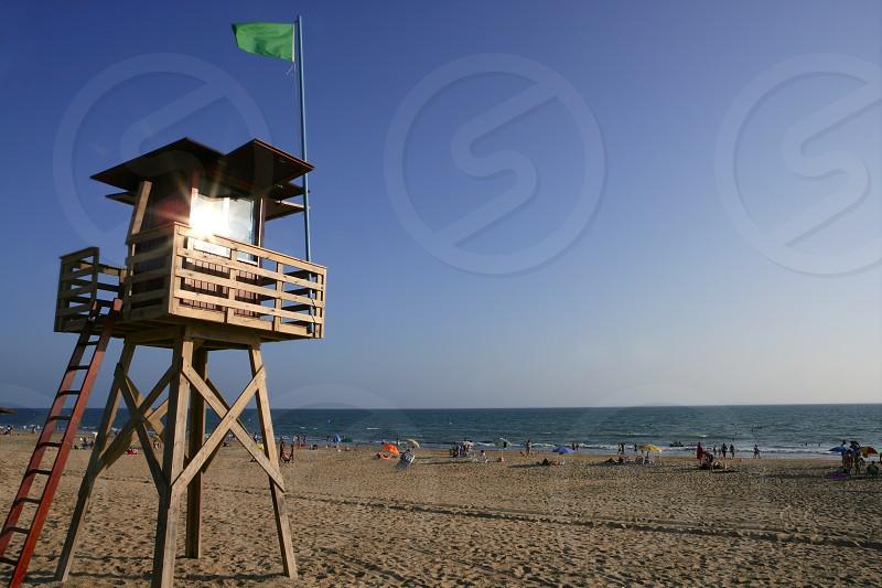 Beach wood cabin in Spain for coast guard photo