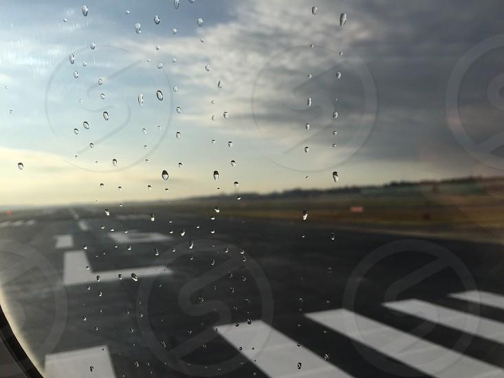 airplane runway photo photo