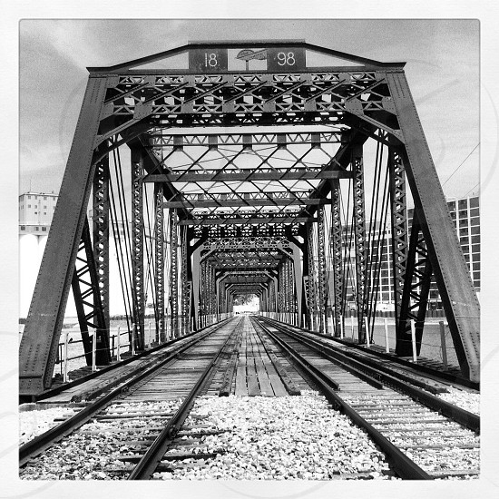 railway grey scale photo photo