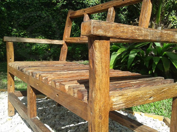 old bench wood photo