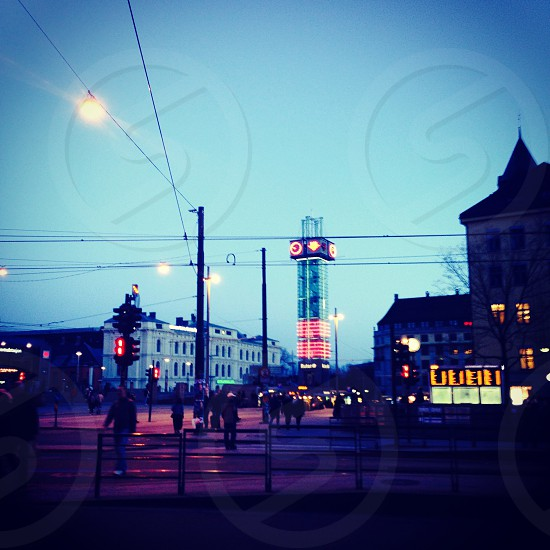 Oslo (Norway) by night photo