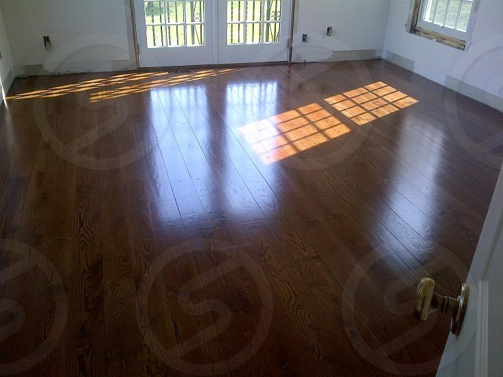reclaimed white  oak flooring photo