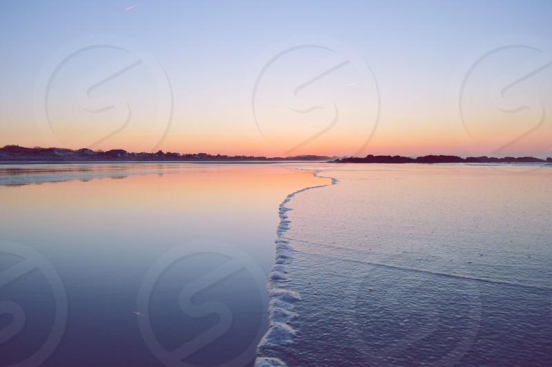 view of sea shore photo