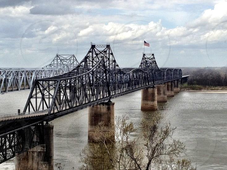 Mississippi River bridges. Vicksburg MS photo