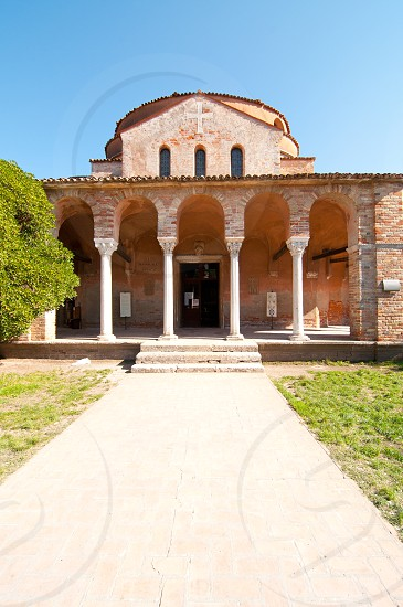 Venice Italy Torcello Cathedral of Santa Maria Assunta view photo