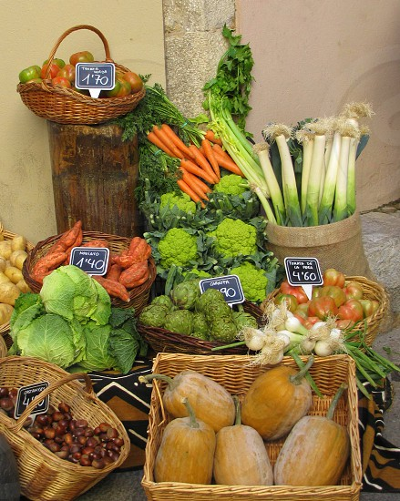 Vegetable market; Girona Spain photo