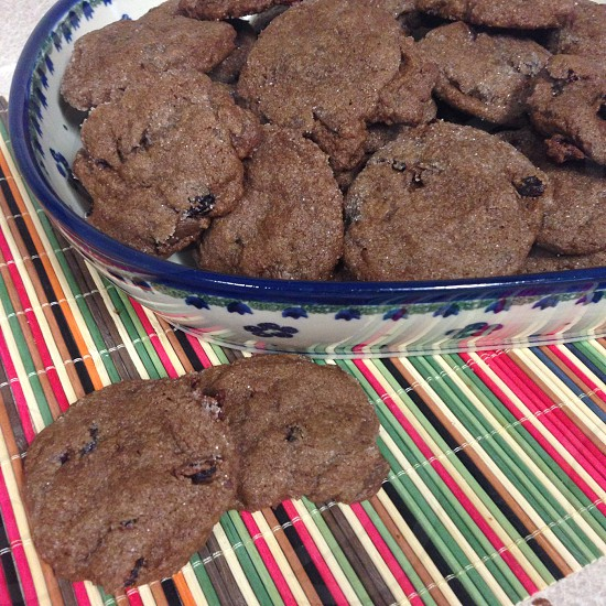Chocolate cranberry cookies  photo