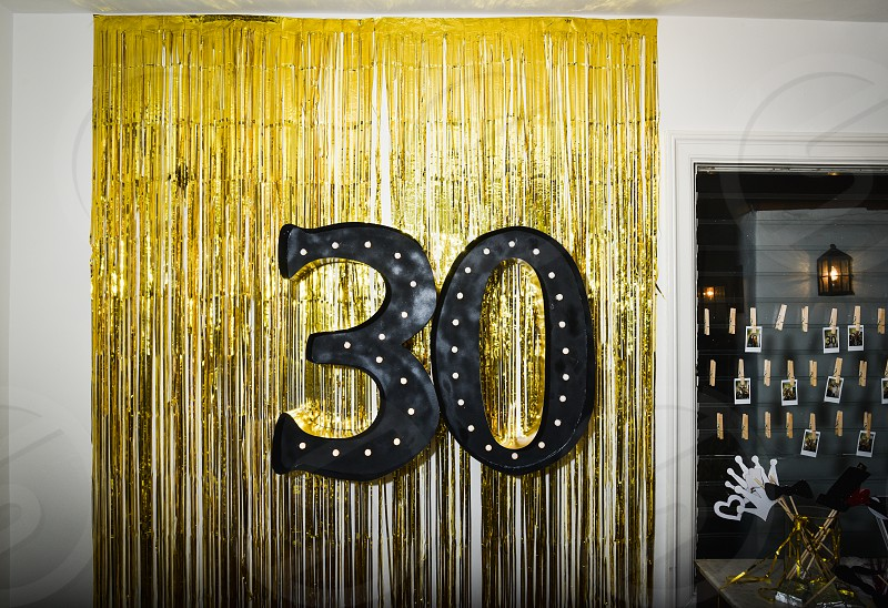 30 thirty birthday celebration gold decoration photo