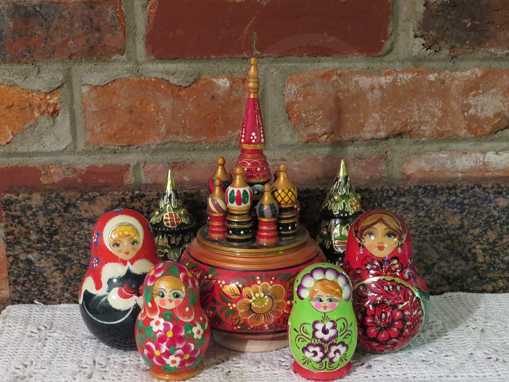 Nesting dolls and music boxes photo