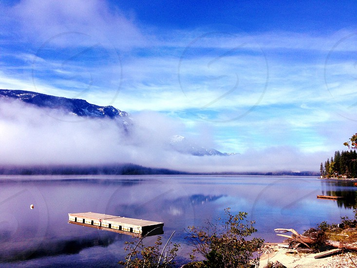Morning at the lake. Lake Wenatchee. Wa.  photo