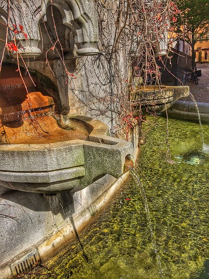 Old fountain in the old town of StockholmSweden photo