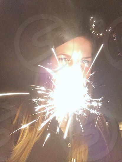 sparkler fireworks photo