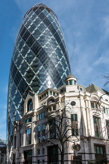View of the Gherkin building in London photo