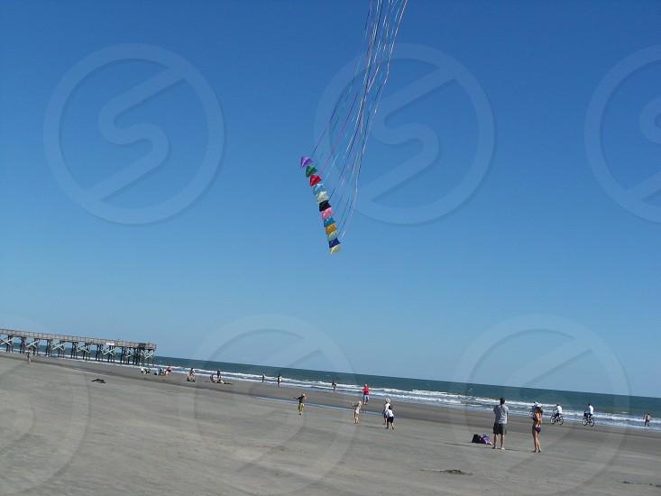 Kites at the beach photo
