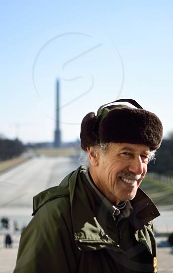 Park Ranger at Lincoln Memorial -Washington DC US photo