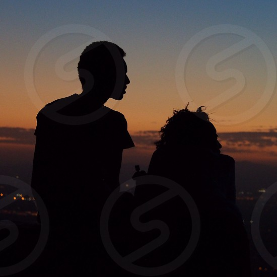A couple enjoys the view from South Mountain in Phoenix. photo