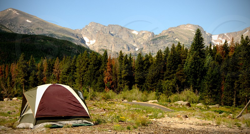 Camping in Rocky Mountain National Park photo