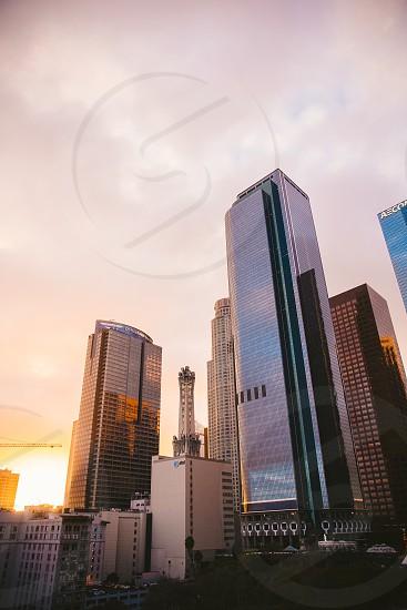 La city buildings goldenhour sunset photo