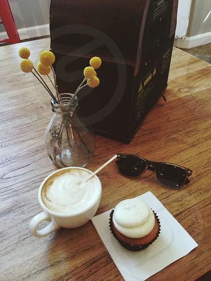 cappuccino in mug photo