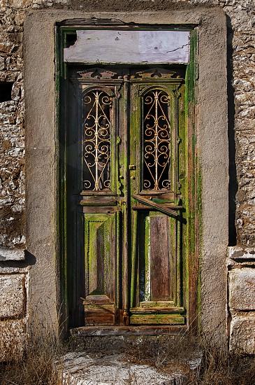 A Green Door. photo