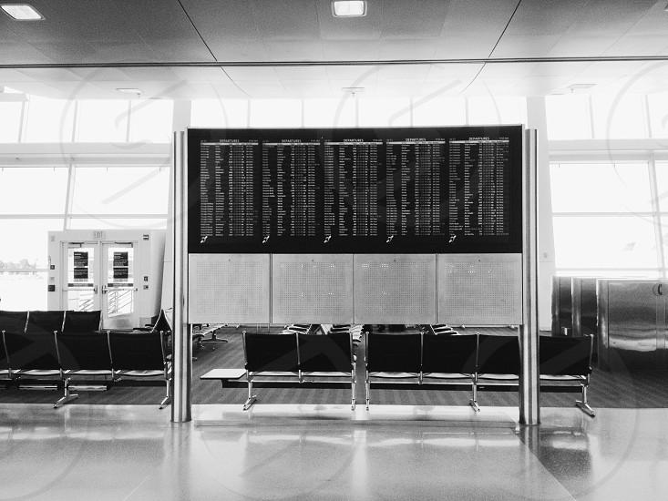 Airport arrivals departures flight information display  photo