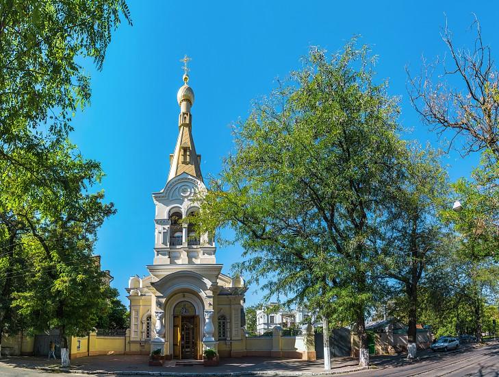 Odessa Ukraine - 10.03.2018. Church of St. Gregory the Theologian in Odessa located the historical center of Odessa Ukraine photo
