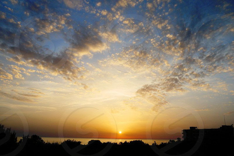 Dramatic sunset in Cyprus photo