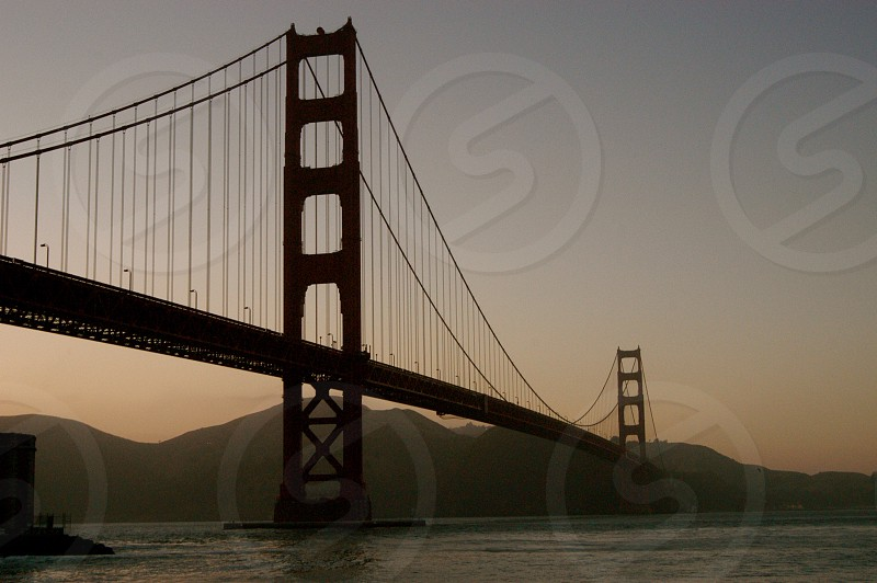 Sunset Golden Gate Bridge photo