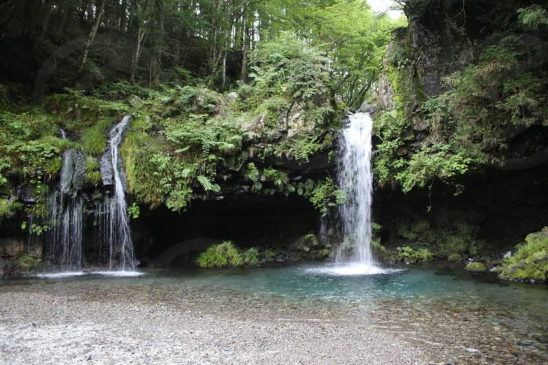 Secret waterfall in Hakone Japan photo