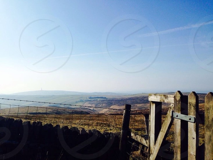 English countryside rolling hills Cheshire shutlingsloe teggs nose macclesfield forest walking photo
