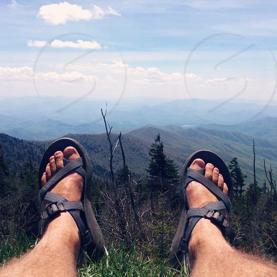 black strap sandals photo