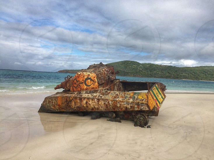 Puerto Rico; Isla Culebra; Flamenco Beach photo