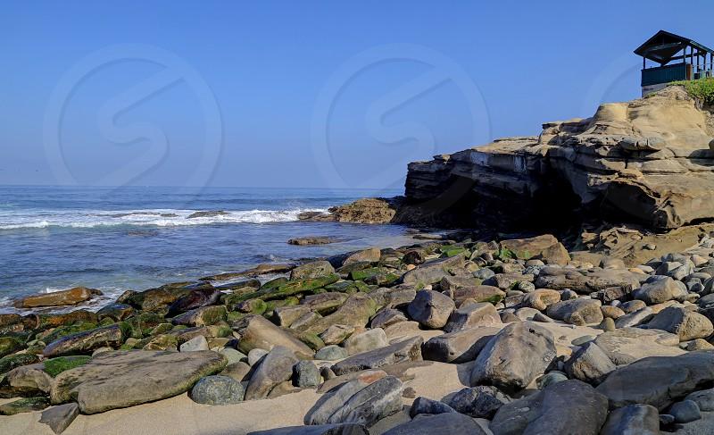 La Jolla coastline in California just outside of San Diego. photo