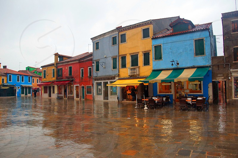 flooded multicolored house buildings photo