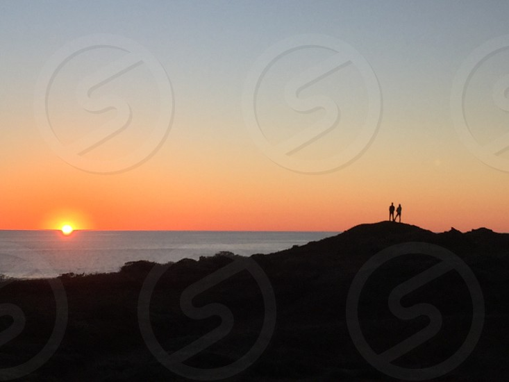 California ocean coastal sunset travel road trip Mendocino beach couple romance vacation nature outdoors hiking  photo