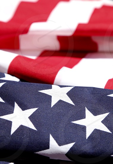 Close up of American Flag photo