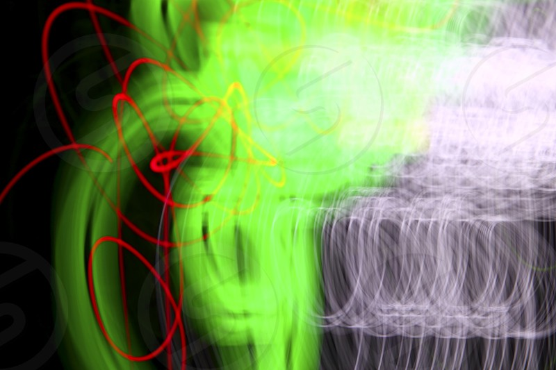 abstract night lighs motion blur colorful glowing photo
