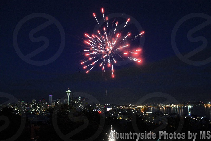 Seattle on the 4th of July. ~ Queen Anne look-out.  photo