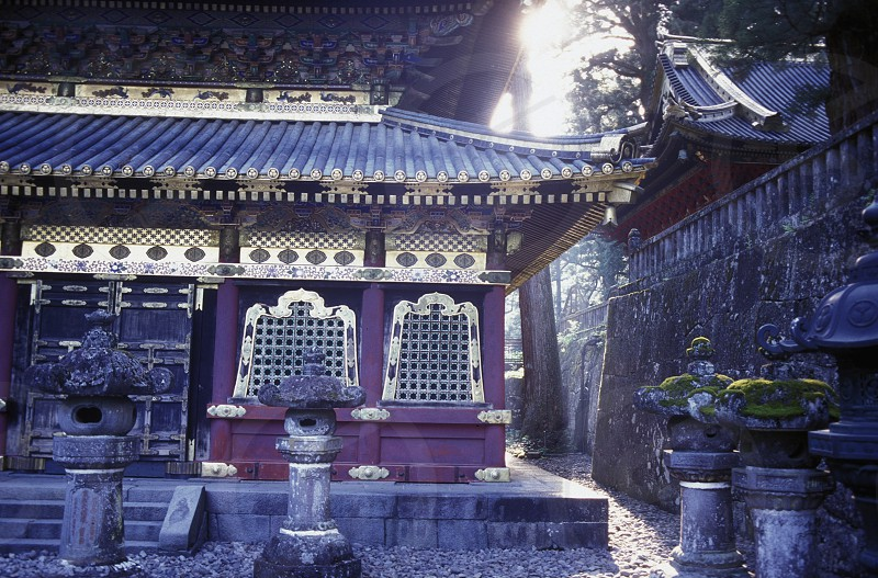 the historical Shrines of Nikko in the north of Tokyo in Japan in Asia photo