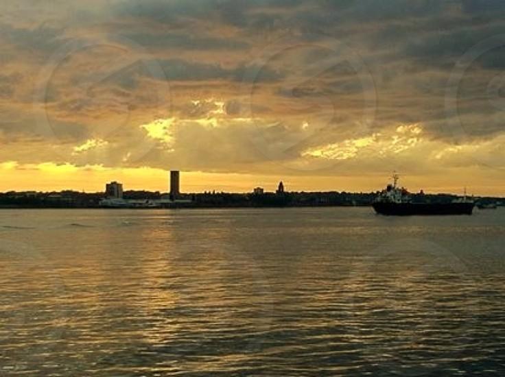 sunrise view over city photo