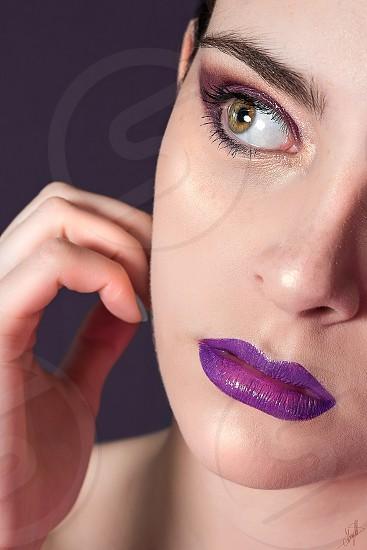 Violet beauty makeup violeta portrait uruguay skin glow photo