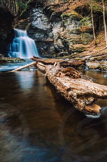 Waterfall in the spring northeast nature long exposure water forest creek photo